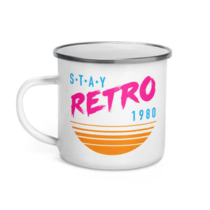 Sunset Retro Enamel Mug