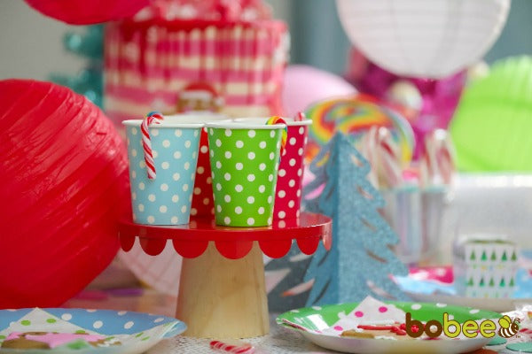colorful paper cups candy land