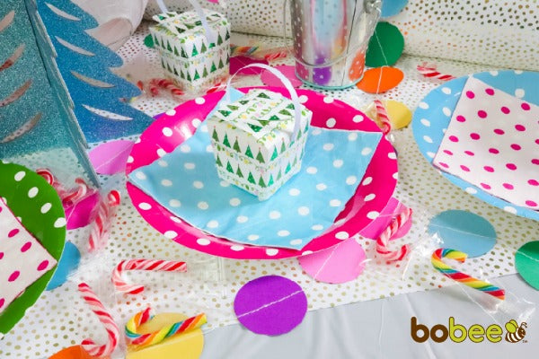 colorful party table candy land