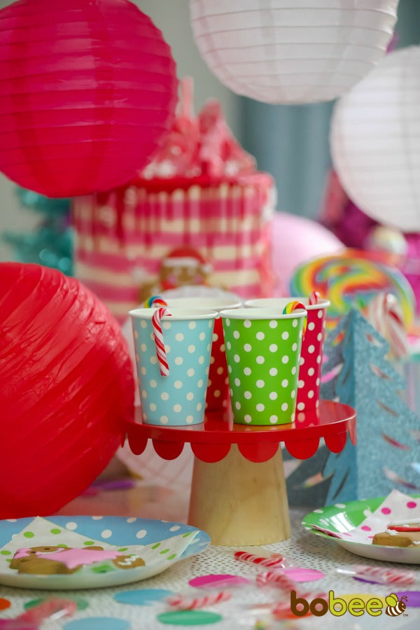 colorful paper cups and lanterns