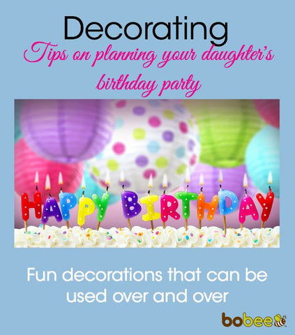 Decorating a birthday party on a budget