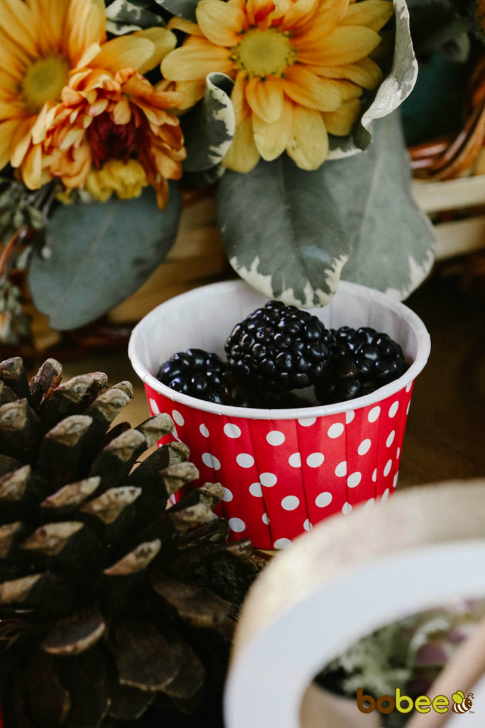treat cup with blackberries