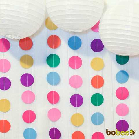paper garland with paper lanterns