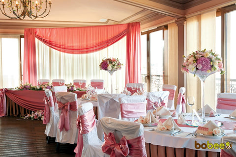 Go wild with pink flowers at your wedding.