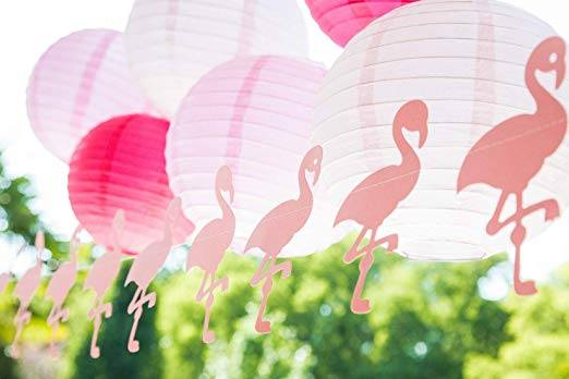 flamingo paper garlands