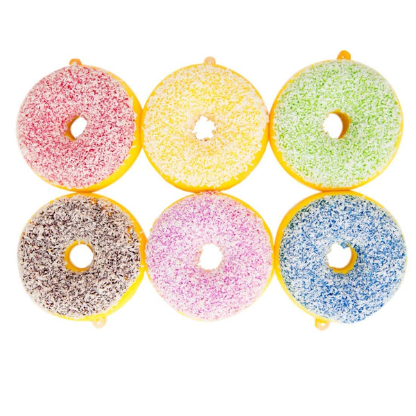 Donut Themed Squishy Birthday Party Favors for Kids Set of 6