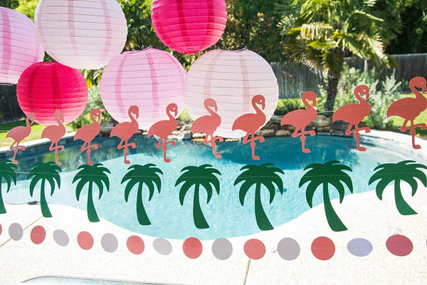 pool party flamingle party decorations