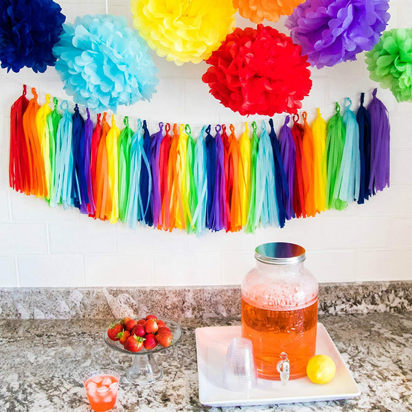 rainbow party table display