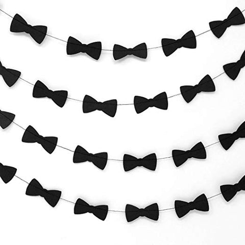 Bobee Bow Tie Party Decorations Paper Garlands, 14 feet