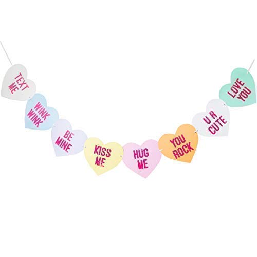 conversational candy heart banner