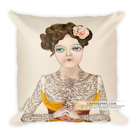 Pillow - Tattoo Lady - Miss Luna