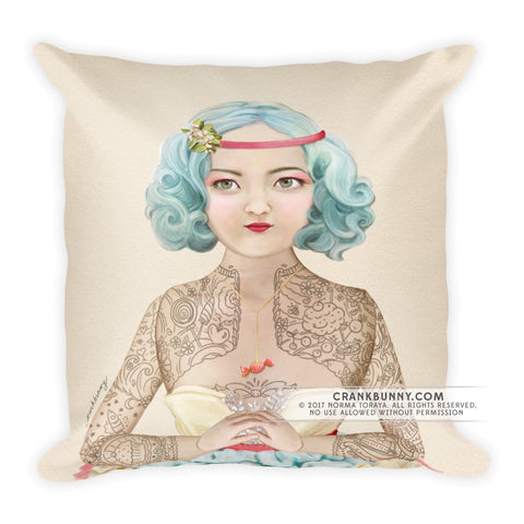 Pillow - Tattoo Lady - Miss Yumi