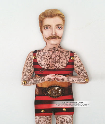 Tattooed Paper Puppet - Johnny the Boy