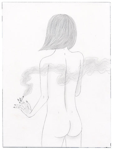 Ed Templeton - Girl Smokes From Behind