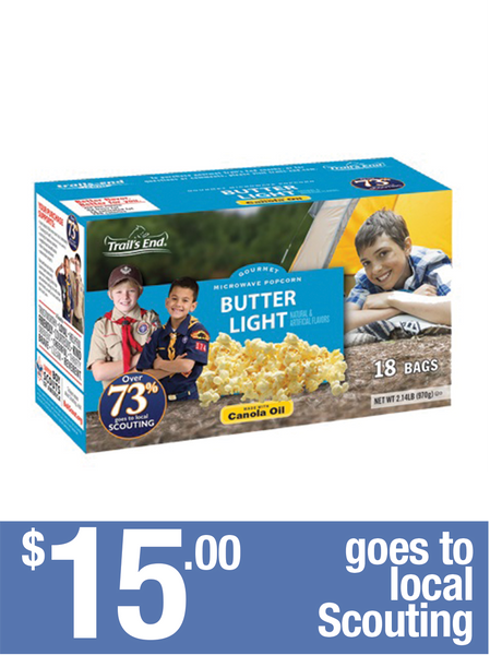 Gourmet Microwave Popcorn: Butter Light - 18pk