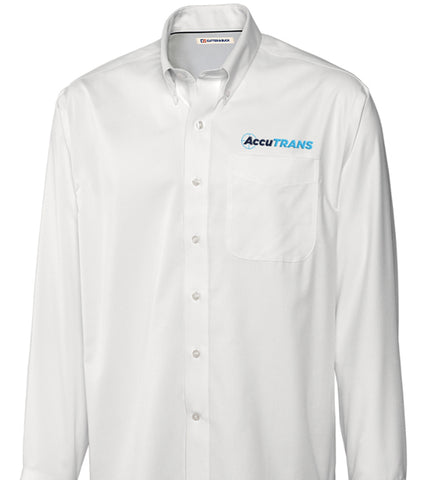 Cutter & Buck White Button Down w/ AccuTRANS Logo