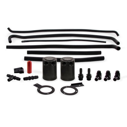 Mishimoto 08-14 Subaru STI Baffled Oil Catch Can Kit - Black (MMBCC-STI-08SBE)