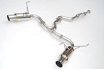 Invidia 08+ Subaru WRX/STI 4dr N1 Twin Outlet Single Layer Tip SS Cat-Back Exhaust