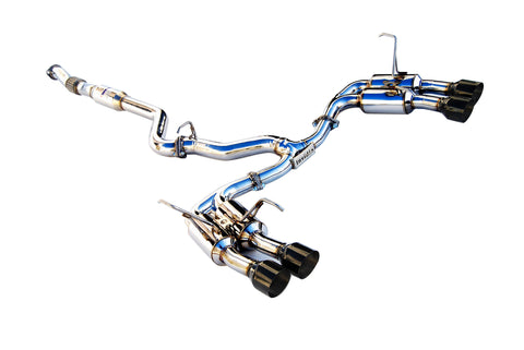 Invidia 2015+ Subaru WRX / STI Gemini/R400 Single Layer Quad Black Tip Cat-Back Exhaust (HS15STIGM4SB)