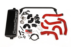 GrimmSpeed Front Mount Intercooler Kit Black Core w/ Red or Black Piping Subaru STI 2015 - 2020