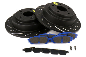 EBC Brakes S6 Rear Brake Kit Bluestuff Pads and 3GD Rotors Subaru Models (inc. 2003-2005 WRX / 2003-2008 Forester) (S6KR1109)