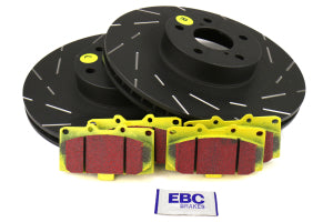 EBC Brakes S9 Front Brake Kit Yellowstuff Pads and USR Rotors Subaru WRX 2006-2007 (S9KF1616)