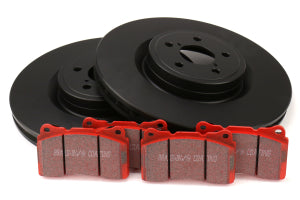 EBC Brakes S12 Front Brake Kit Redstuff Pads and RK Rotors Subaru STi 2004 (S12KF1118)