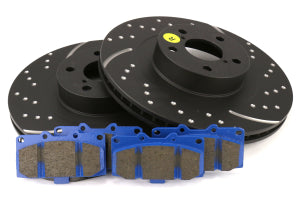EBC Brakes S6 Front Brake Kit Bluestuff Pads and 3GD Rotors Subaru WRX 2006-2007 (S6KF1025)