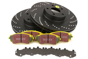EBC Brakes S5 Front Brake Kit Yellowstuff Pads and 3GD Rotors Subaru Models (inc. 2003-2005/2008 WRX / 2003-2008 Forester) (S5KF1356)
