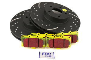 EBC Brakes S5 Front Brake Kit Yellowstuff Pads and 3GD Rotors Subaru WRX 2006-2007 (S5KF1104)