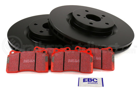 EBC Brakes S12 Front Brake Kit Redstuff Pads and RK Rotors Subaru STI 2005-2017 (S12KF1119)