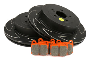 EBC Brakes S7 Rear Brake Kit Orangestuff Pads and BSD Rotors Subaru STI 2004 (S7KR1008)