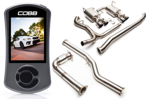COBB Tuning Subaru Stage 2 Power Package Titanium Non-Resonated Subaru WRX 2015+ (641X12TI)