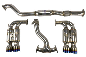 Invidia 08-14 Subaru WRX Hatchback Gemini Single Layer Titanium Tip Cat-back Exhaust