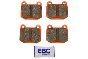 EBC Brakes Orangestuff Race Rear Brake Pads Subaru STI 2004-2017 / Mitsubishi Evo / OEM Brembo Applications (DP91537)