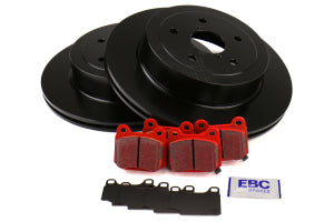 EBC Brakes S12 Rear Brake Kit Redstuff Pads and RK Rotors Subaru STI 2005-2007 (S12KR1225)
