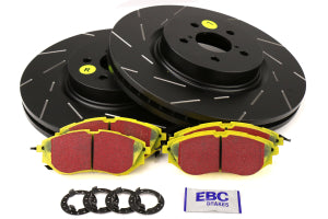 EBC Brakes S9 Front Brake Kit Yellowstuff Pads and USR Rotors Subaru Models (inc. 2005-2012 Legacy GT / 2014-2016 Forester XT) (S9KF1518)