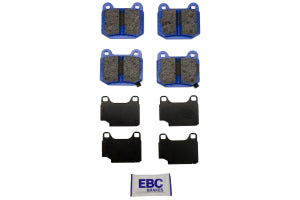 EBC Brakes Bluestuff NDX Race Rear Brake Pads Subaru STI 2004-2017 / Mitsubishi Evo / OEM Brembo Applications (DP51537NDX)