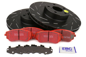 EBC Brakes S4 Front Brake Kit Redstuff Pads and USR Rotors Subaru Models (inc. 2003-2005/2008 WRX / 2003-2008 Forester)
