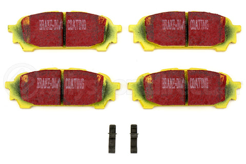EBC Brakes Yellowstuff Street And Track Rear Brake Pads Subaru Models (inc. 2003-2005 WRX / 2003-2008 Forester)