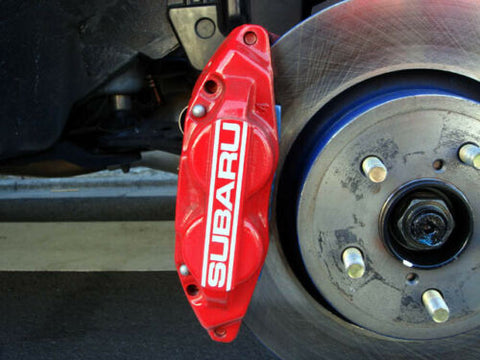 2006-2007 WRX 4 Piston/ 2 Piston Red Calipers