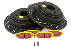 EBC Brakes S5 Rear Brake Kit Yellowstuff Pads and 3GD Rotors Subaru Models (inc. 2003-2005 WRX / 2003-2008 Forester) (S5KR1193)
