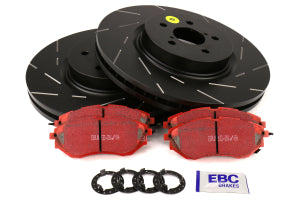 EBC Brakes S4 Front Brake Kit Redstuff Pads and USR Rotors Subaru Models (inc. 2005-2012 Legacy GT / 2014-2016 Forester XT) (S4KF1182)