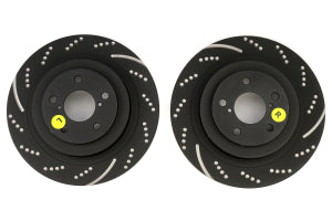 EBC Brakes 3GD Series Sport Dimpled/Slotted Rear Brake Rotors Subaru WRX 2006-2007 / Legacy GT 2005-2009 (GD7409)