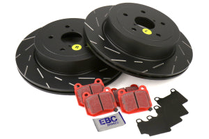 EBC Brakes S4 Rear Brake Kit Redstuff Pads and USR Rotors Subaru STI 2005-2007 (S4KR1114)