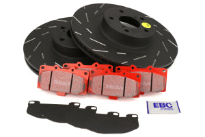 EBC Brakes S4 Front Brake Kit Redstuff Pads and USR Rotors Subaru WRX 2006-2007 (S4KF1072)