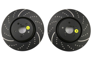 EBC Brakes 3GD Series Sport Dimpled/Slotted Front Brake Rotors Subaru Models (inc. 2005-2014 Legacy / 2014+ Forester XT)