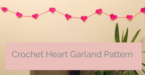 FREE Crochet Heart Garland Pattern