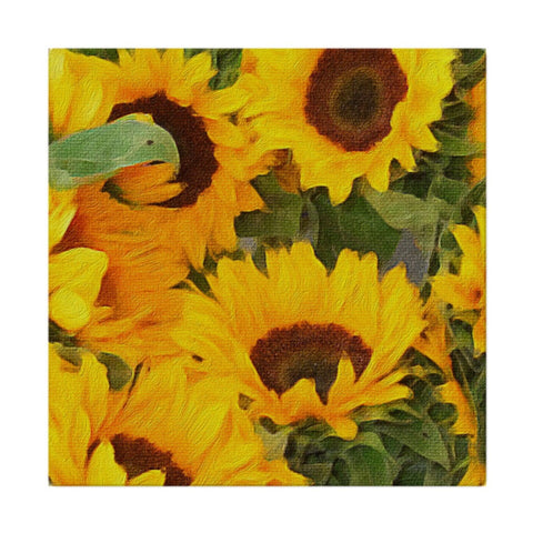 Painted Sunflowers Cloth Napkins