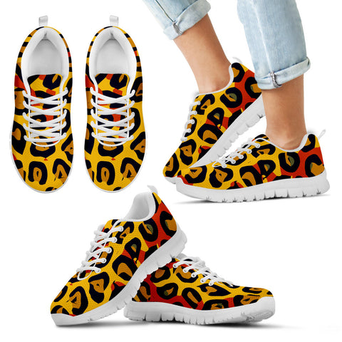 Jungle cheetah print kid's and women's shoes